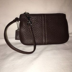 Coach Pebbled Leather Small Wristlet